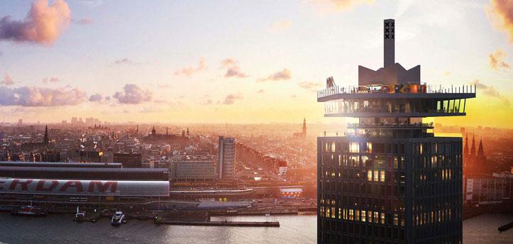 event support group - A'DAM Toren is de nieuwe naam voor 'Toren Overhoeks'. De toren is ontworpen door de architect Arthur Staal in opdracht van Royal Dutch Shell. Sterker nog, de toren is ook liefkozend bekend als de 'Shell-toren' door veel Amsterdammers.